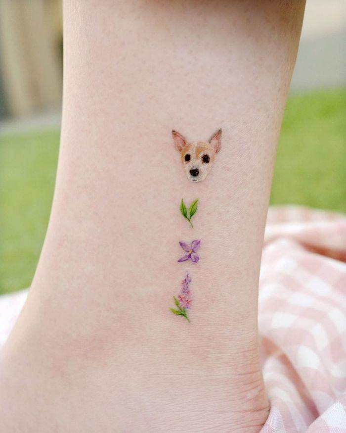 49 tatuagens pequenas para tornozelos que vão te encantar: são discretas e lindas! 48