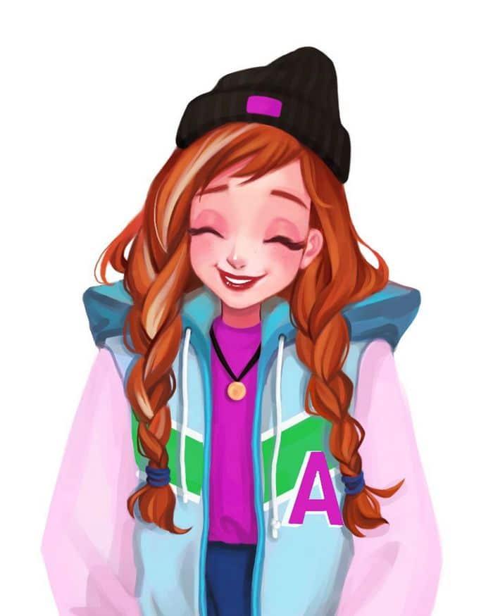 Uma artista cria looks casuais para personagens da Disney 13