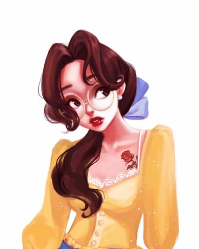 Uma artista cria looks casuais para personagens da Disney 15