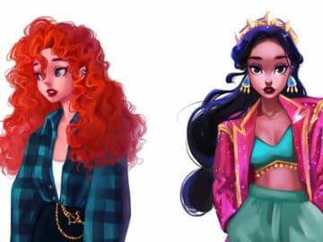 Uma artista cria looks casuais para personagens da Disney 30