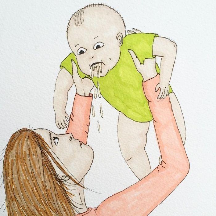 Uma mãe norueguesa mostra sua vida em ilustrações irônicas 5