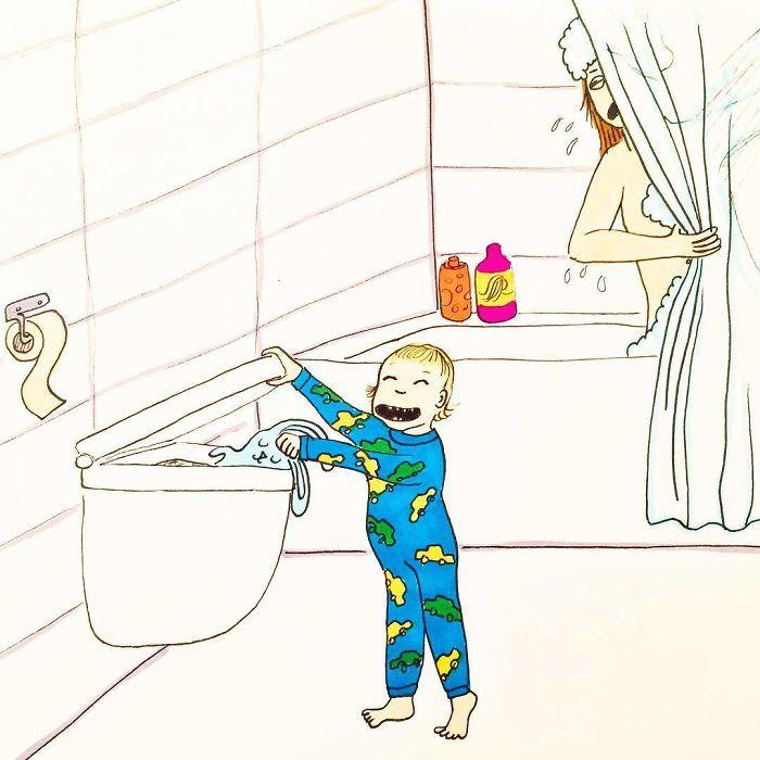 Uma mãe norueguesa mostra sua vida em ilustrações irônicas 10