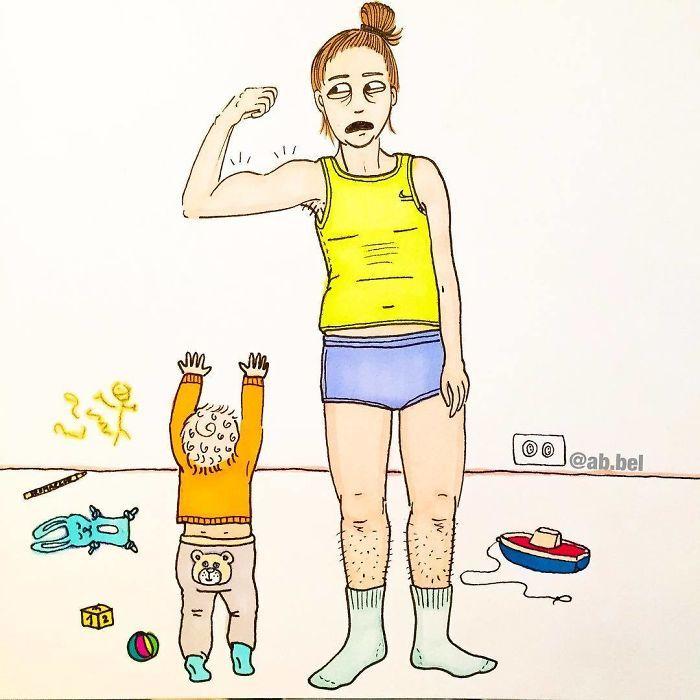 Uma mãe norueguesa mostra sua vida em ilustrações irônicas 13