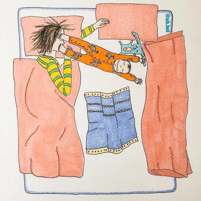 Uma mãe norueguesa mostra sua vida em ilustrações irônicas 16