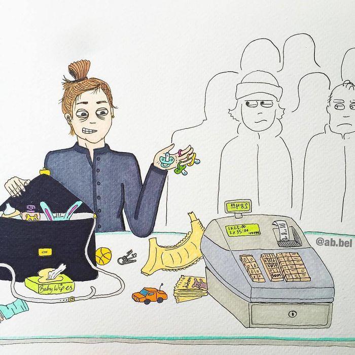 Uma mãe norueguesa mostra sua vida em ilustrações irônicas 17