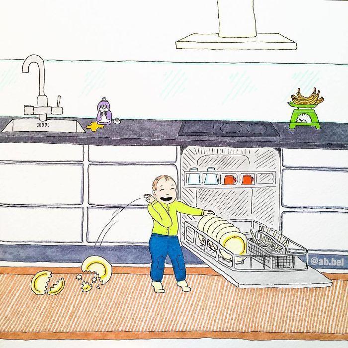 Uma mãe norueguesa mostra sua vida em ilustrações irônicas 18
