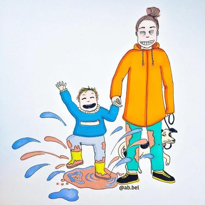 Uma mãe norueguesa mostra sua vida em ilustrações irônicas 23