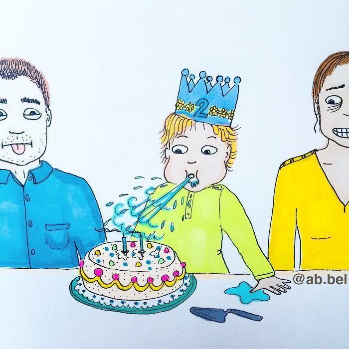 Uma mãe norueguesa mostra sua vida em ilustrações irônicas 25