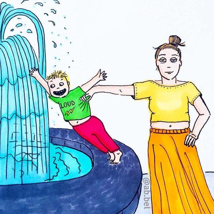 Uma mãe norueguesa mostra sua vida em ilustrações irônicas 27