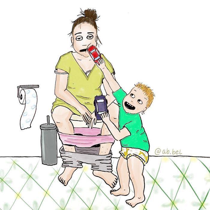 Uma mãe norueguesa mostra sua vida em ilustrações irônicas 29