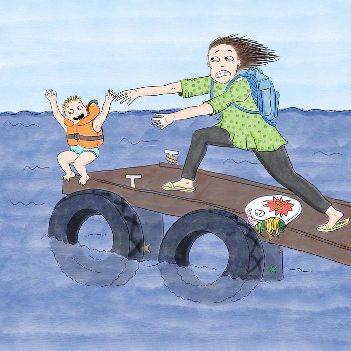 Uma mãe norueguesa mostra sua vida em ilustrações irônicas 30