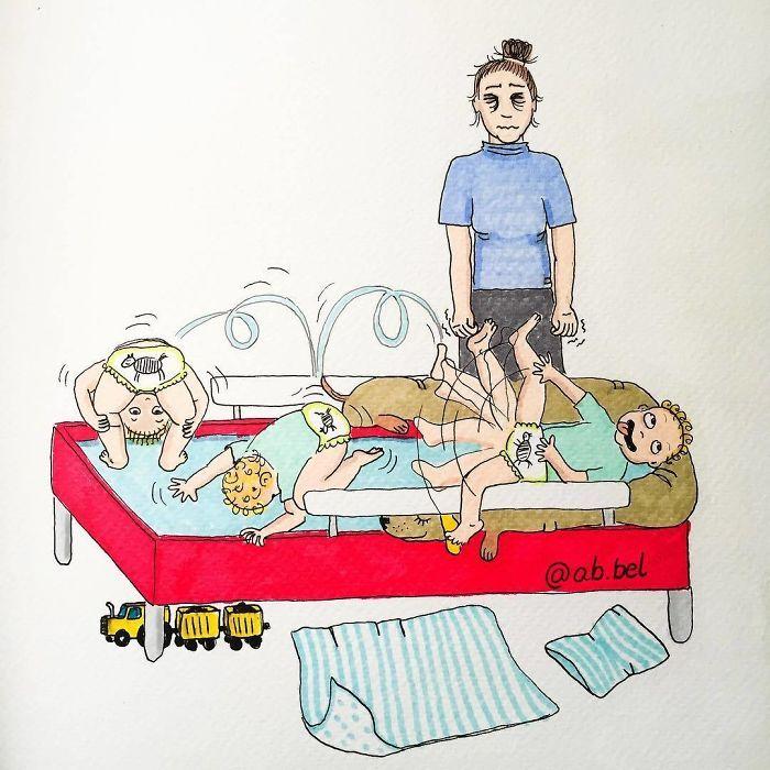 Uma mãe norueguesa mostra sua vida em ilustrações irônicas 31