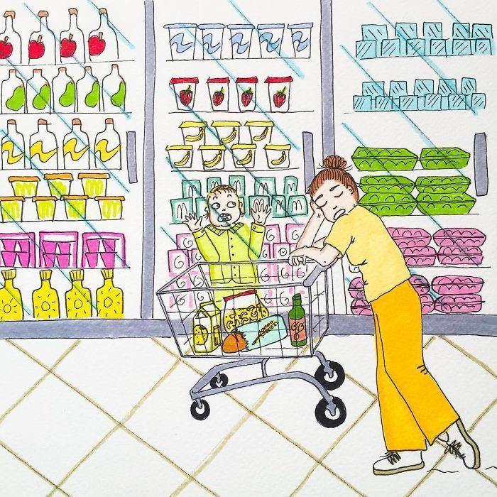 Uma mãe norueguesa mostra sua vida em ilustrações irônicas 32