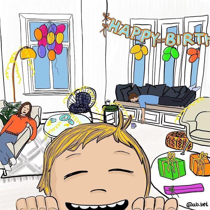 Uma mãe norueguesa mostra sua vida em ilustrações irônicas 33