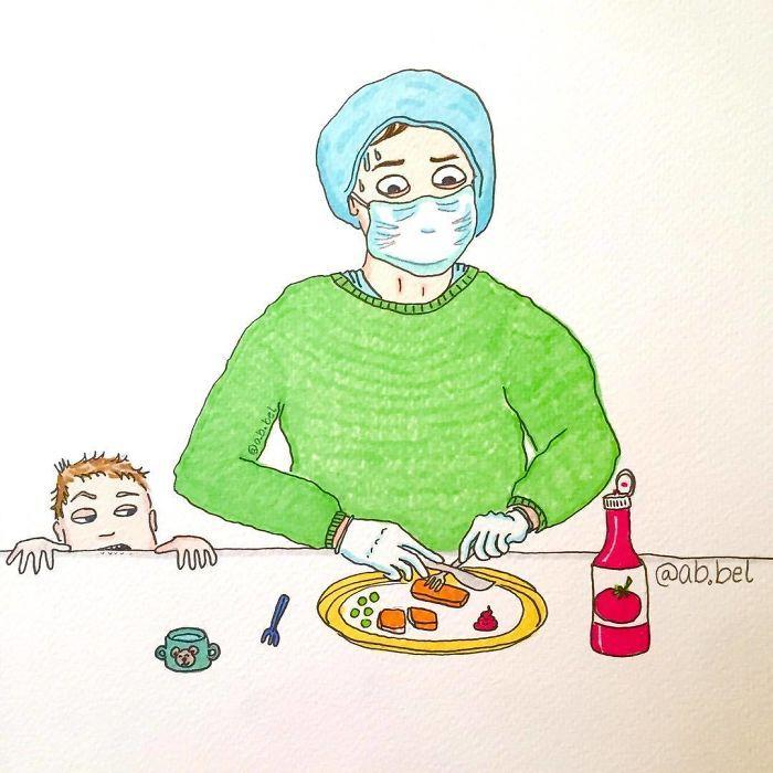 Uma mãe norueguesa mostra sua vida em ilustrações irônicas 34