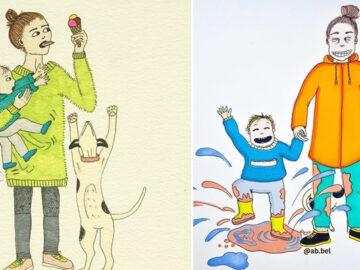 Uma mãe norueguesa mostra sua vida em ilustrações irônicas 6