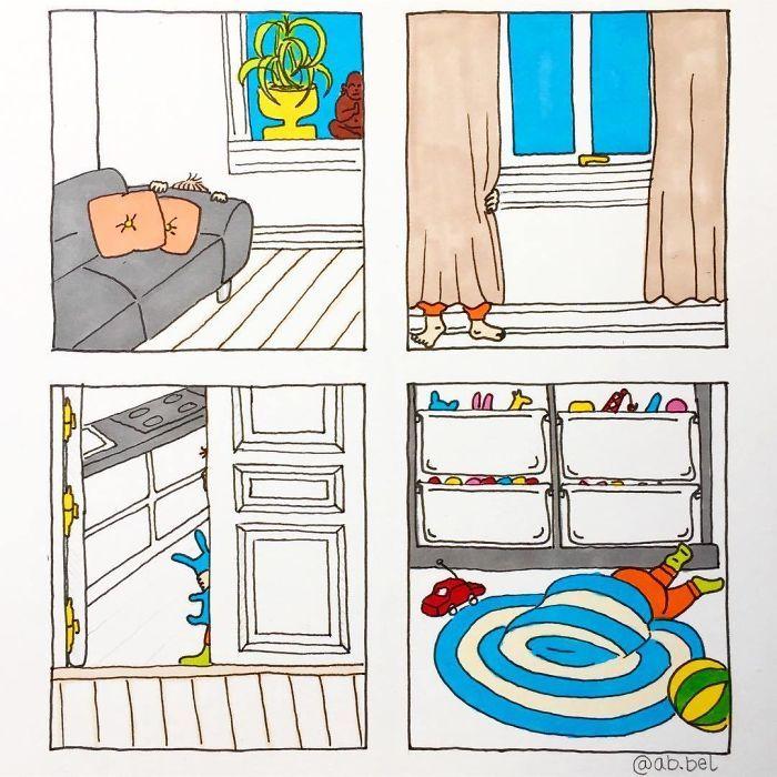 Uma mãe norueguesa mostra sua vida em ilustrações irônicas 39