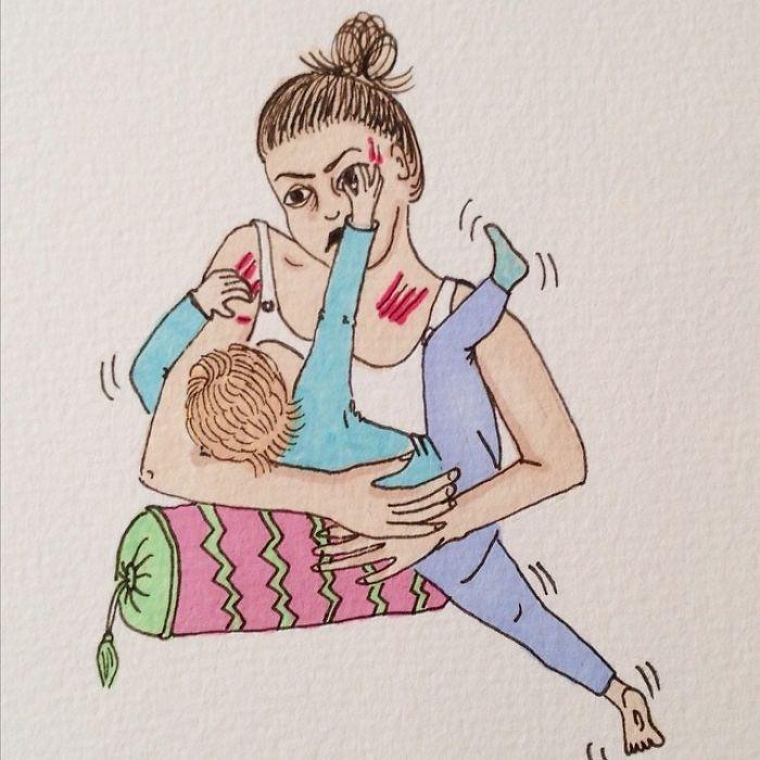 Uma mãe norueguesa mostra sua vida em ilustrações irônicas 41