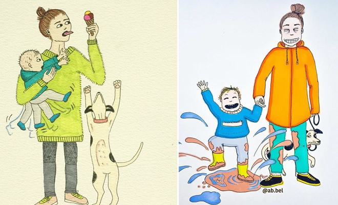 Uma mãe norueguesa mostra sua vida em ilustrações irônicas 2