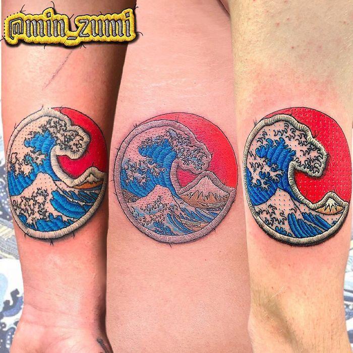 Artista cria tatuagens que parecem remendos costurados e aqui estão 44 de suas obras mais impressionantes 2