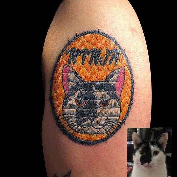 Artista cria tatuagens que parecem remendos costurados e aqui estão 44 de suas obras mais impressionantes 10