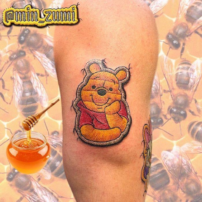 Artista cria tatuagens que parecem remendos costurados e aqui estão 44 de suas obras mais impressionantes 15
