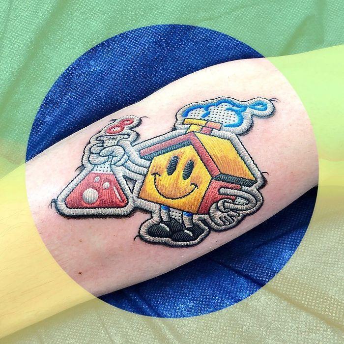 Artista cria tatuagens que parecem remendos costurados e aqui estão 44 de suas obras mais impressionantes 33