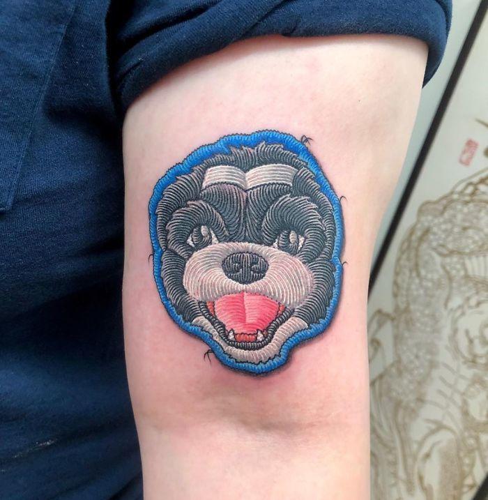 Artista cria tatuagens que parecem remendos costurados e aqui estão 44 de suas obras mais impressionantes 39