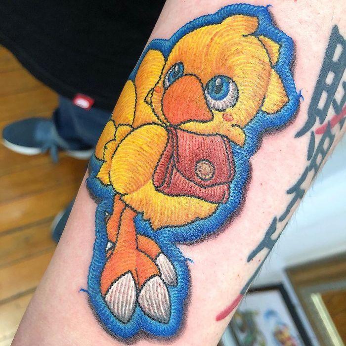 Artista cria tatuagens que parecem remendos costurados e aqui estão 44 de suas obras mais impressionantes 41