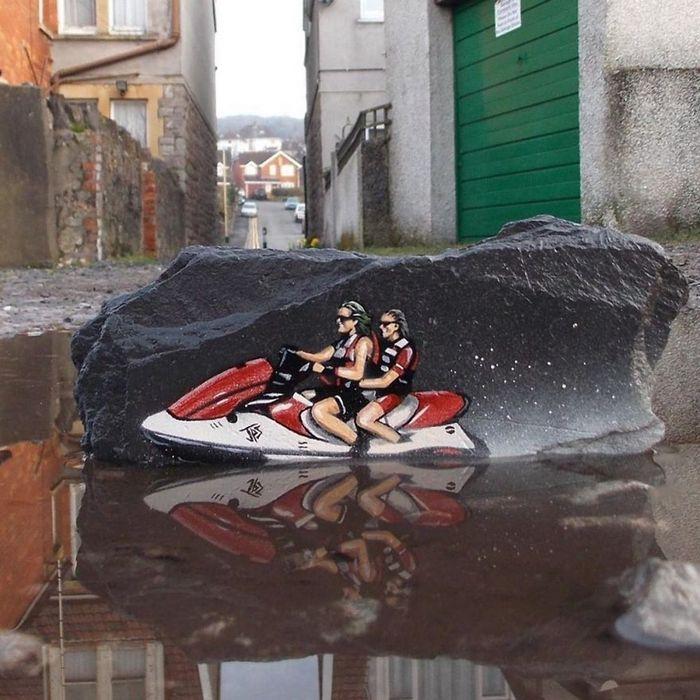 Artista de rua JPS faz sua arte em lugares que a maioria das pessoas negligenciaria 4