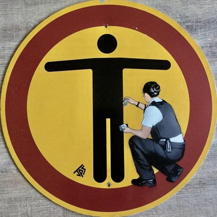 Artista de rua JPS faz sua arte em lugares que a maioria das pessoas negligenciaria 5