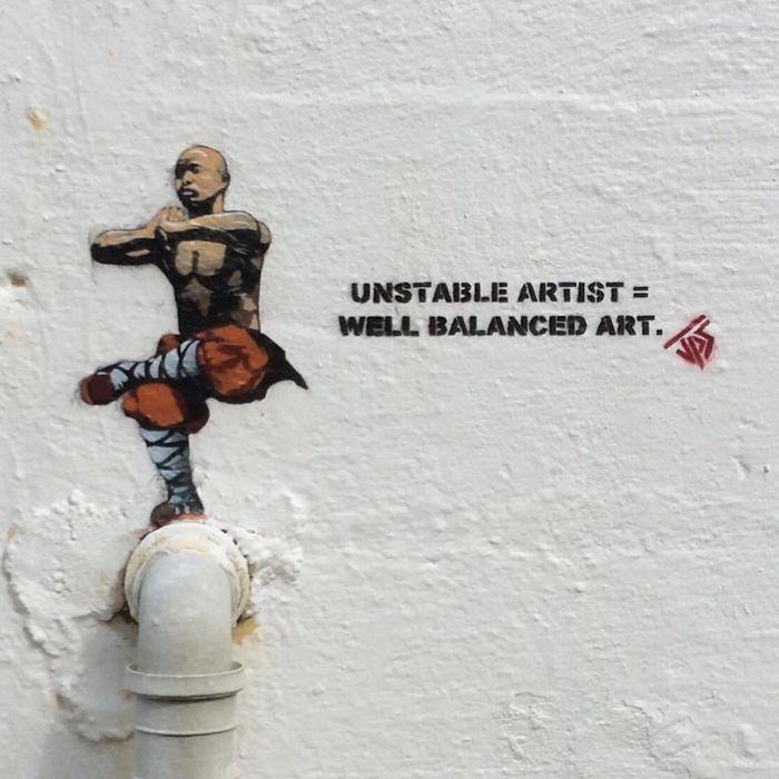 Artista de rua JPS faz sua arte em lugares que a maioria das pessoas negligenciaria 9