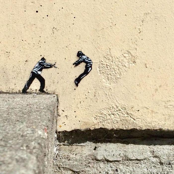 Artista de rua JPS faz sua arte em lugares que a maioria das pessoas negligenciaria 10
