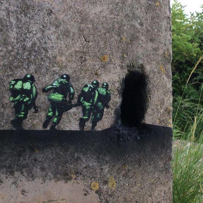 Artista de rua JPS faz sua arte em lugares que a maioria das pessoas negligenciaria 12