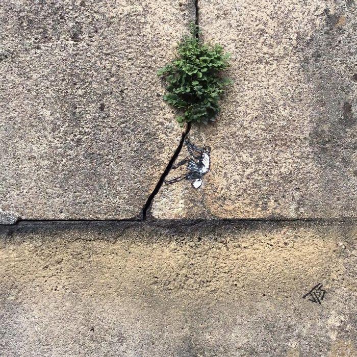 Artista de rua JPS faz sua arte em lugares que a maioria das pessoas negligenciaria 14