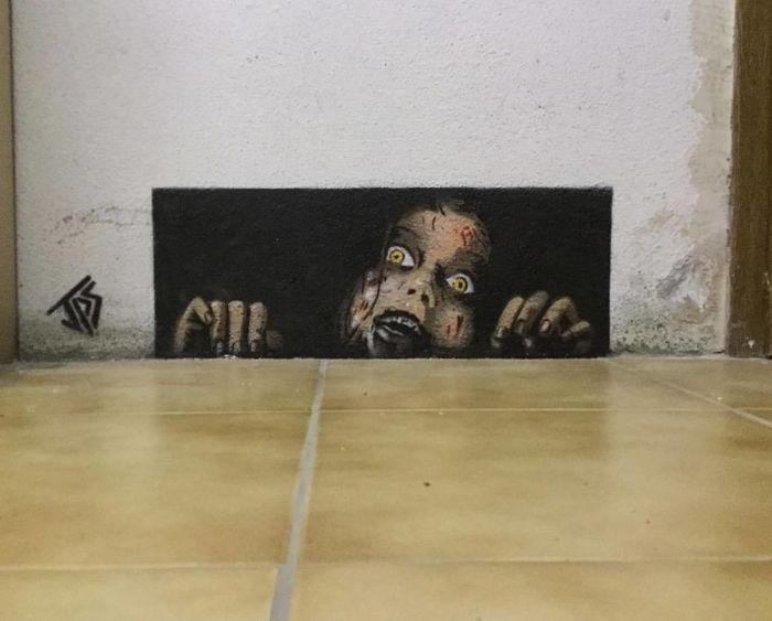Artista de rua JPS faz sua arte em lugares que a maioria das pessoas negligenciaria 26