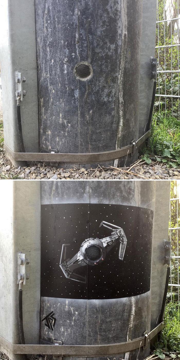 Artista de rua JPS faz sua arte em lugares que a maioria das pessoas negligenciaria 34