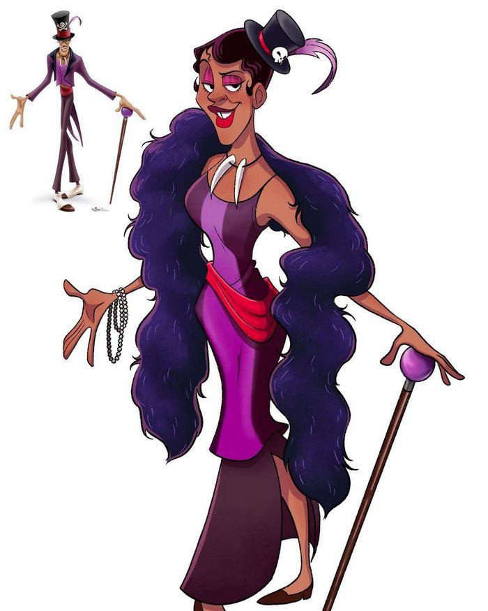 Artista faz vilões da Disney virarem princesas 3