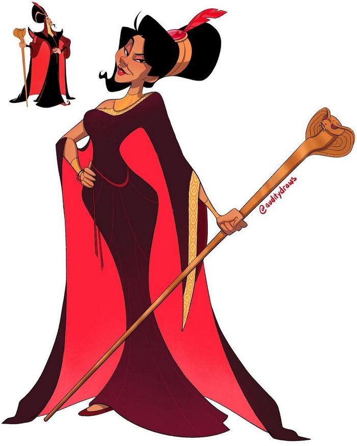 Artista faz vilões da Disney virarem princesas 5