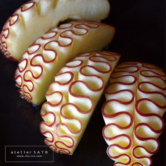 Artista japonês esculpe à mão padrões e ornamentos em comida 21