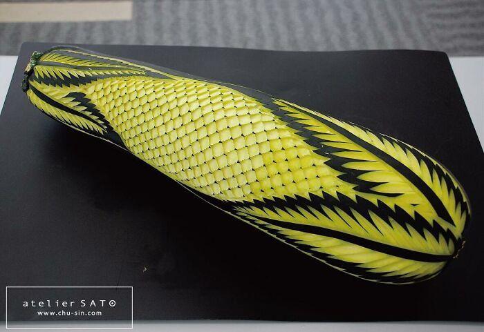 Artista japonês esculpe à mão padrões e ornamentos em comida 27