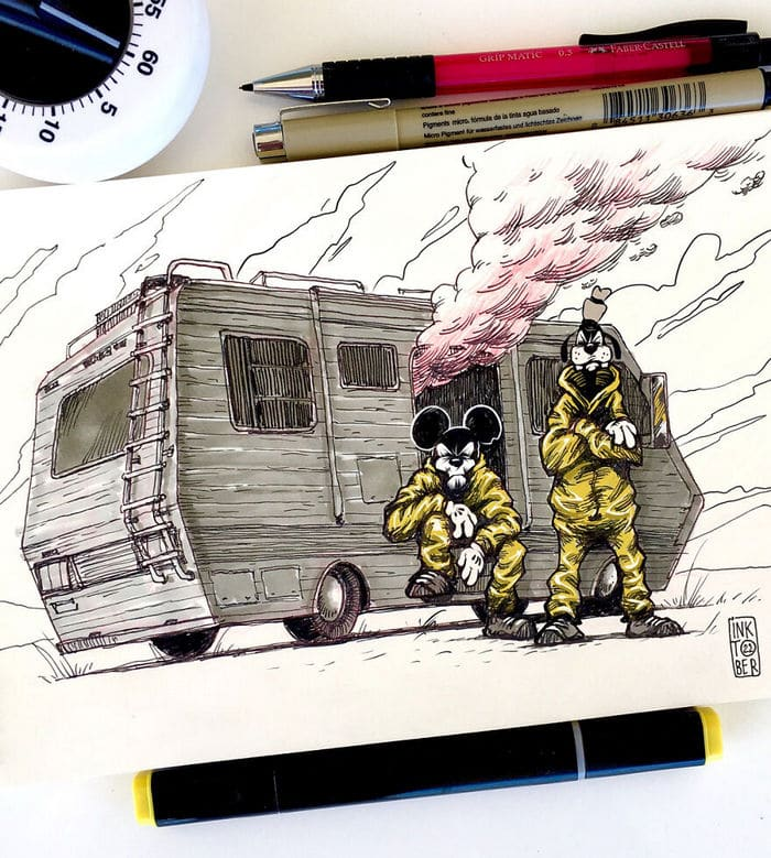 Artista russo cria ilustrações que são divertidas e assustadoras 3