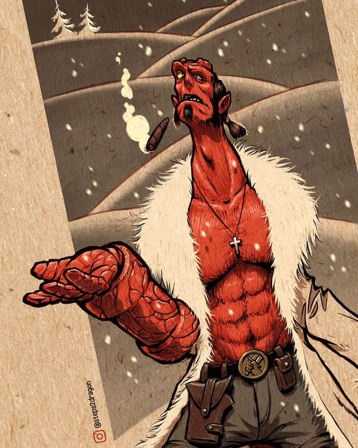 Artista russo cria ilustrações que são divertidas e assustadoras 4