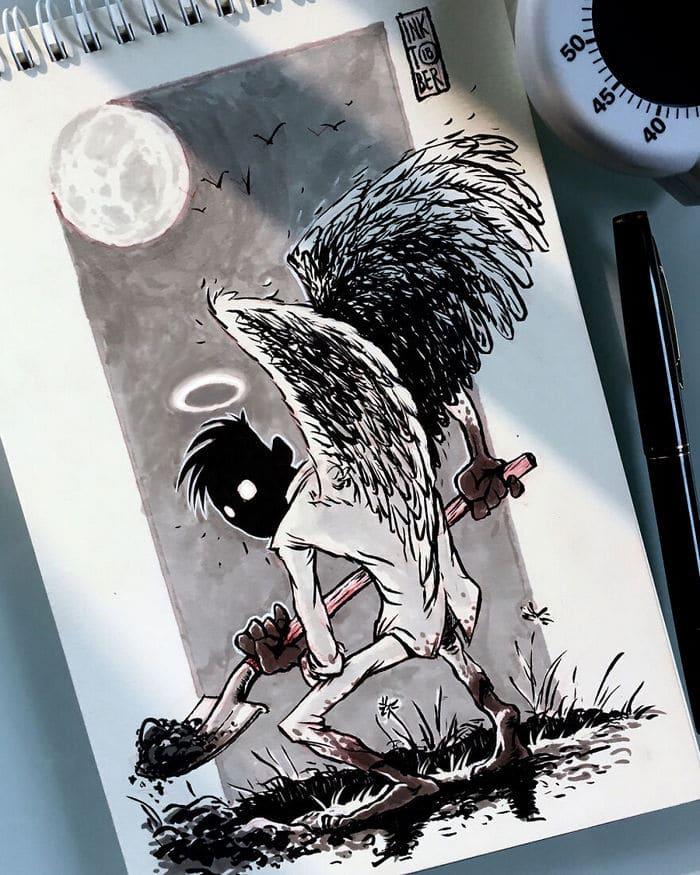 Artista russo cria ilustrações que são divertidas e assustadoras 10