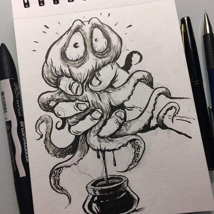 Artista russo cria ilustrações que são divertidas e assustadoras 11