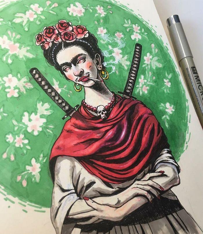 Artista russo cria ilustrações que são divertidas e assustadoras 14