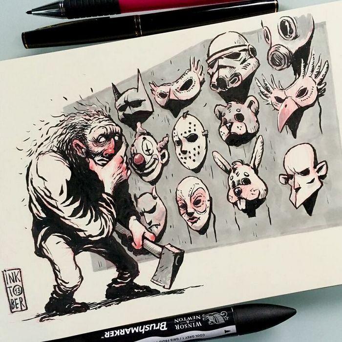 Artista russo cria ilustrações que são divertidas e assustadoras 16