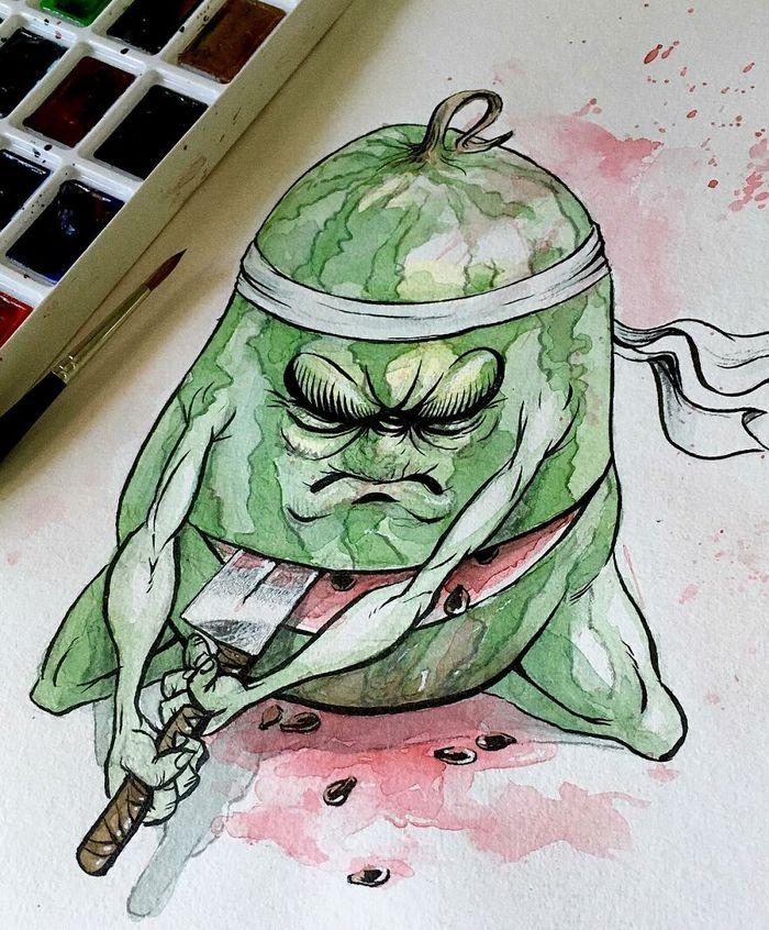Artista russo cria ilustrações que são divertidas e assustadoras 21