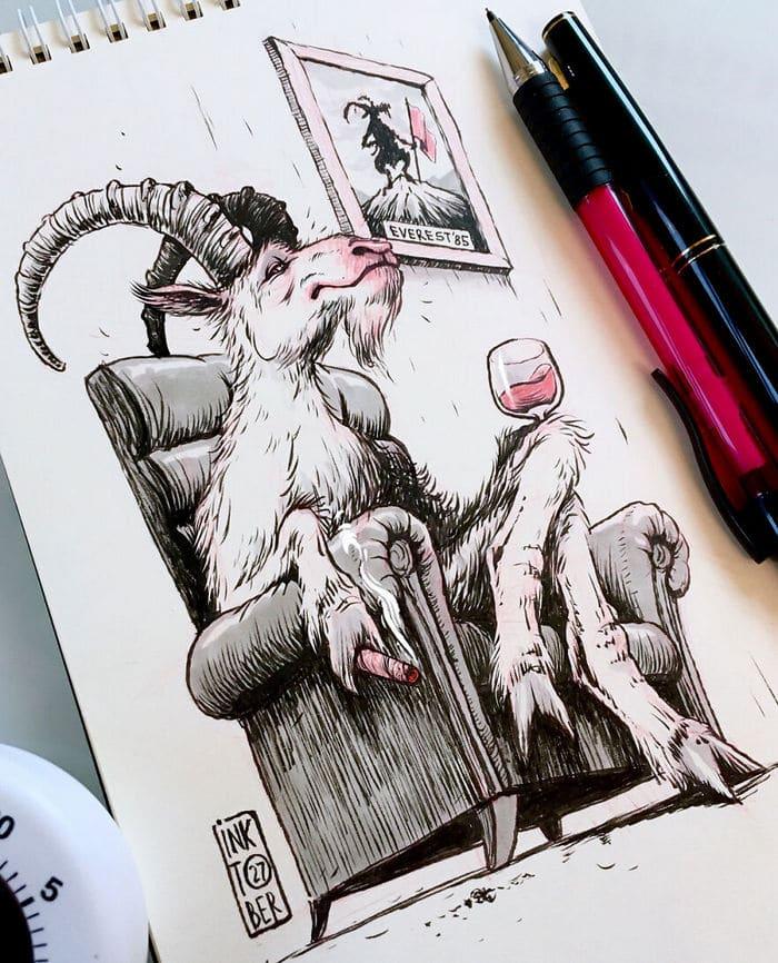 Artista russo cria ilustrações que são divertidas e assustadoras 22