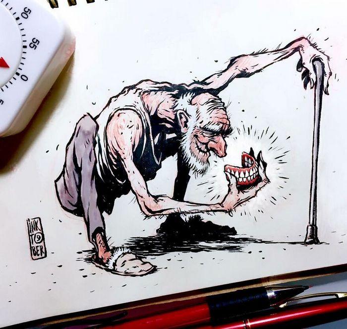Artista russo cria ilustrações que são divertidas e assustadoras 27